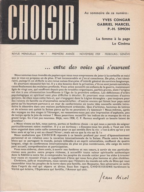 revue choisir presse catholique en suisse 100 ans d 39 influence. Black Bedroom Furniture Sets. Home Design Ideas