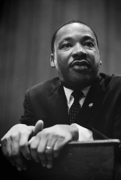 Martin Luther King lors d'une conférence de presse, 26 mars 1964. Photo: Library of Congress (DP) / Wikimedia.org