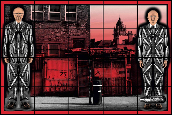 Gilbert & George Riddle Road, 2013, © 2020 Gilbert & George -courtesy Galerie Thaddaeus Ropac, London, Paris, Salzbourg
