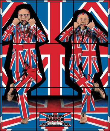Gilbert & George, Union Dance 2008, © 2020 Gilbert & George -courtesy Arndt Collection