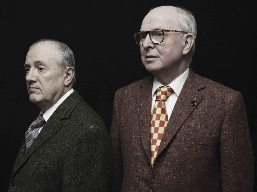 Gilbert and George at home in Spitalfields, London, by Tom Oldham May 31st 2015 © 2020 Gilbert & George